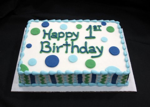 First Birthday Cakes Blue And Green  Image Inspiration Of Cake - Blue cake birthday